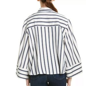 BCBGMaxAzria Tops - BCBGMAXAZRIA Combo Striped Bell Sleeve Top